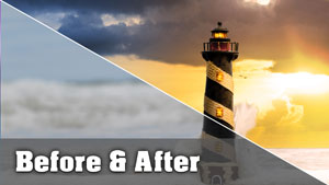 Lighthouse Photo - Before and After Tutorial