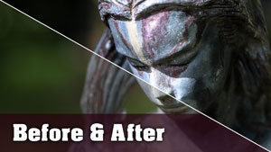 Statue Photo - Before and After Tutorial
